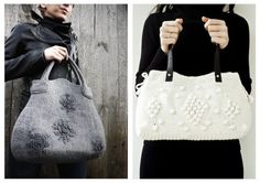 Hello Hart shared handmade on the runway included these two #crochet purses by Sudrishta and Onstail (both Etsy sellers).