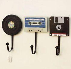 Wandhaken Shabby Chic Deko Tape Record Haken Kreative Kleiderbügel Deko A .