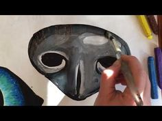 Drawing the eyes for collage animals - YouTube