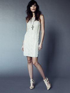 sooo pretty I want this  Embellished Shift Dress