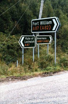 Scottish road signs.