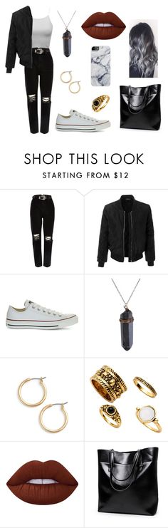 """""""Untitled #315"""" by fashion-with-dudette on Polyvore featuring River Island, LE3NO, Converse, Nordstrom and Lime Crime"""