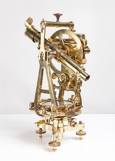 "No. 59 Universal theodolite      Brass and engraved metal     Signed ""Troughton & Simms - London"", circa 1870     SOLD"