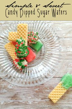Add this Simple & Sweet Candy Dipped Sugar wafers to any cookie tray to add color very easily!