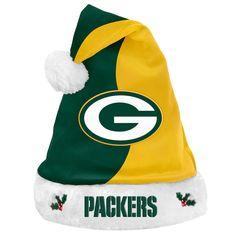 NFL Green Bay Packers Santa Hat, Adult Unisex