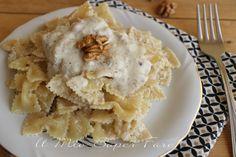Pasta con crema di ricotta e noci con solo 3 ingredienti
