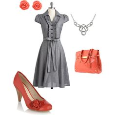"""""""Gray and Coral"""" for work?"""