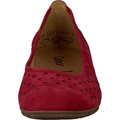 Gabor Fashion Damenschuhe 44.169.15 Damen Ballerinas Slipper Slip-On Leder (Nubukleder) Rot (rot), EU 44 - http://on-line-kaufen.de/gabor/9-5-uk-gabor-44-169-damen-ballerinas