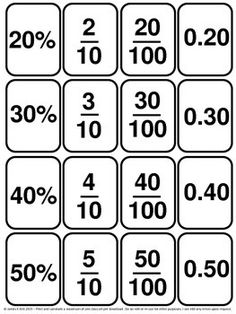 Decimals Cards and Fractions Cards 139 mini cards - 1 fraction, decimal, or… Math Resources, Math Activities, Math Games, Fraction Activities, Math Fractions, Dividing Fractions, Equivalent Fractions, Math Charts, Math Help