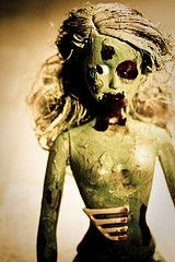 zombie barbie- too bad if we were to zombie this far, you couldn't tell we were barbie
