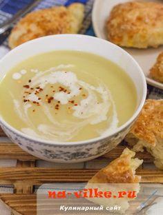 French cream soup from potatoes and leek (Potage Parmentier) - Французский картофельный суп-пюре с луком пореем (Potage Parmentier)