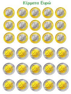 Νηπιαγωγός για πάντα....: Το Μαγαζάκι μας: Προτάσεις κι Εποπτικό Υλικό για την Οργάνωση της Γωνιάς Paper Doll House, Barbie Doll House, Billet En Euros, Kids Workshop, Ice Cream Van, Greek Language, Play Money, Bingo Cards, Mini Things