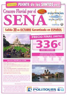 Puente de los Santos Crucero Fluvial por el SENA, salida 30/10 (4d/3n) p.f. desde 336€ - http://zocotours.com/puente-de-los-santos-crucero-fluvial-por-el-sena-salida-3010-4d3n-p-f-desde-336e-2/