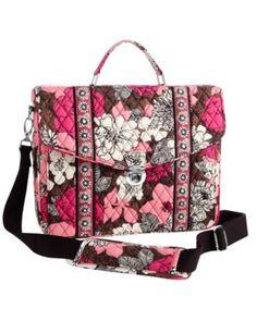 Cute Vera Bradley bags at deep discounts! Mocha Rouge Attache Messenger Bag  Act quickly 7ba6531d9e375