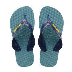 fa975b61c5ec Havaianas Kids Max Flip Flops Navy Blue Mineral Blue - 11 12C  flipflopsTips
