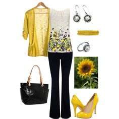 """""""Sunflowers"""".....Happy Outfit :)"""