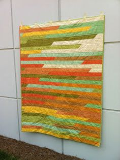 salty oat: modern quilts: jelly roll quilt love the colors!