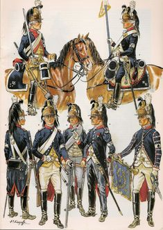 French; Chevalier Dragoons of the Crown, 1791-96 by P.Courcelle