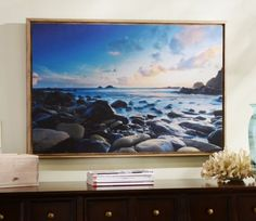 Blue Cove Framed Print #kirklands #coastalliving #framedprint