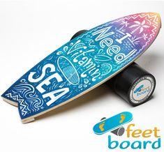 Surfingboard shape balance board with my design ;)