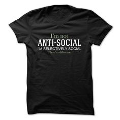 I AM SELECTIVELY SOCIAL T-Shirts, Hoodies. VIEW DETAIL ==► https://www.sunfrog.com/LifeStyle/I-AM-SELECTIVELY-SOCIAL.html?id=41382