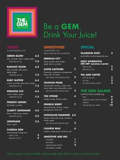 Yay local I can not wait to visit :) – Juice Recipes Smoothie Bar, Smoothie Packs, Smoothies, Juice Bar Menu, Juice Bars, Healthy Juice Drinks, Healthy Juices, Fuel Bar, Juice Bar Design