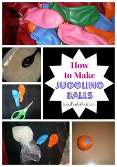 The easiest do-it-yourself Juggling Balls.  So colorful and incredibly FUN!
