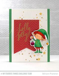Santa's Elves, Hand Lettered Holiday, Blueprints 24 Die-namics, Santa's Elves Die-namics - Miriam Prantner  #mftstamps