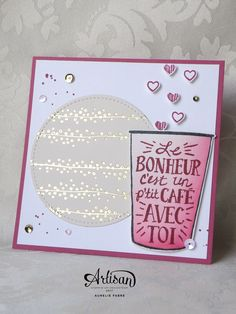 Stampin' Up! Scrapbooking, Scrapbook Cards, Coffee Love, Coffee Break, Rubber Stamping Techniques, Avril 2017, Coffee Cards, Stampin Up Catalog, Friendship Cards