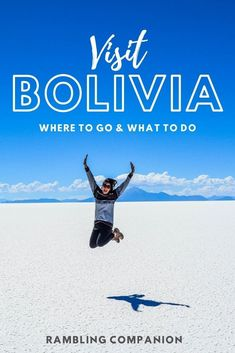 Bolivia is a hidden gem of South America. Learn about the Top Places to Visit in Bolivia including La Paz, Cochabamba, Sucre, Tarija, Tupiza and the Salt Flats (Salar de Uyuni). This South America travel itinerary provides recommended things to do and how much time to spend in each destination in Bolivia. #Bolivia #Itinerary #Travel Cool Places To Visit, Places To Travel, Travel Destinations, Travel Tips, Places To Go, Christ The Redeemer Statue, Bolivia Travel, South America Travel, Antarctica