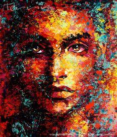 MILLION COLOUR BABY  Acrylic on Canvas  165cm x 195cm  SOLD