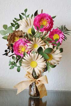 paper flower bouquet using your Silhouette by Nicole Mantooth
