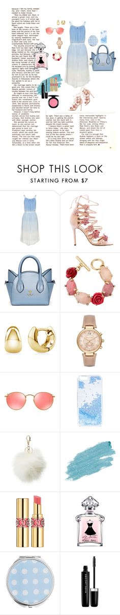 """""""Meaw"""" by albii ❤ liked on Polyvore featuring Marchesa, Oscar de la Renta, BERRICLE, Michael Kors, Ray-Ban, Skinnydip, Charlotte Russe, Jane Iredale, Yves Saint Laurent and Miss Selfridge"""