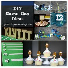 DIY Game Day Ideas: Party decor and stuff football fans can make and wear #biggame #thebiggame #gameday #footballparty #football #yesterdayontuesday