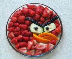 Angry bird - fruit decoration