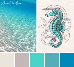 Life's a beach! Sometimes you don't need an off-the-wall or unexpected color scheme. The gorgeous hues of the ocean are always a good place to find inspiration, especially with already beachy designs!