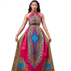 This flowing regal dress takes traditional African elements and reinterprets them as this Royal Totem sleeveless dress. - Easy Care Polyester - Vibrant, Long-Lasting Color - Modern, Sexy Sleeveless -