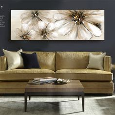 Find More Painting & Calligraphy Information about Modern flower blooming sunflowers painted beige canvas painting wall art original digital inkjet Home Decor,High Quality painting wooden picture frames,China decorative painting wood Suppliers, Cheap decorative wood painting from WHAT ART on Aliexpress.com