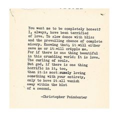 Crumble life: I will fall in love with your pieces poem 47 .