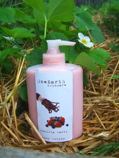 Sweet Vanilla Berry body lotion by OneEarthSkincare on Etsy - I wish she would make some more and come back from vacation <3