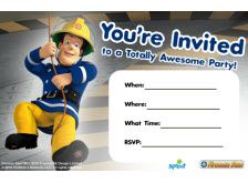 Free Printable Fireman Sam Invitations