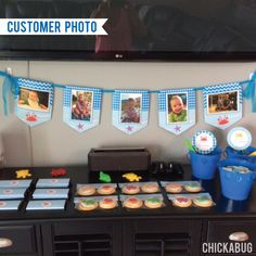 Under the Sea Party Photo Banner Kit (INSTANT DOWNLOAD) - Birthday party photo display!