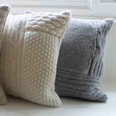 Hand-knitted Cushions