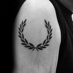 60 Laurel Wreath Tattoo Designs For Men - Branch Ink Ideas