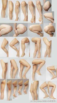 modelli di riferimento per lo studio delle gambe | Circolo d'Arti | Scoop.it