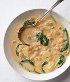 Arabská polévka s cizrnou a špenátem