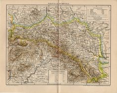 GALICIA BUKOVINA MAP from 1894 Page Maps, Thing 1, Antique Maps, Eastern Europe, Vintage World Maps, History, Antiques, Illustration, Prints
