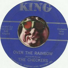 THE CHECKERS Over The Rainbow GROUP DOO WOP SOUL R&B 45 RPM RECORD