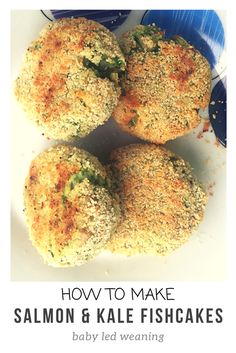 Salmon and kale fishcakes recipe, perfect for baby led weaning (BLW) toddler meals or a healthy snack for the whole family. Fishcakes are healthy, nutritious and delicious.