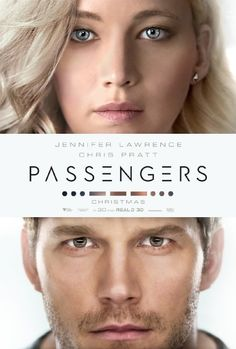 Passengers Movie Poster -Jennifer Lawrence & Chris Pratt